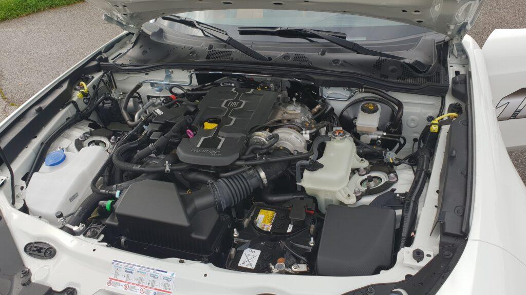 Fiat 124 Spider test motor